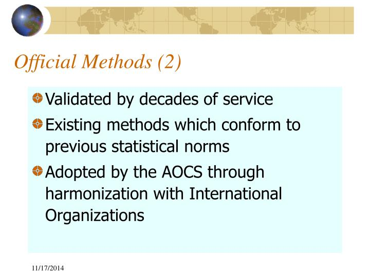 Official Methods (2)