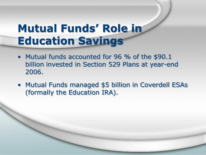 Mutual Funds' Role in