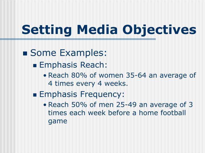 Setting Media Objectives