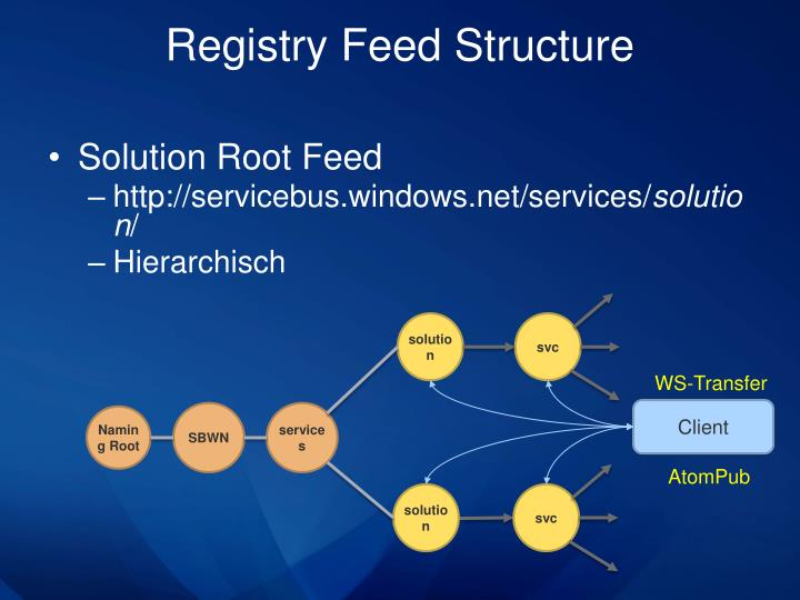 Registry Feed Structure