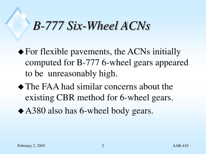B-777 Six-Wheel ACNs