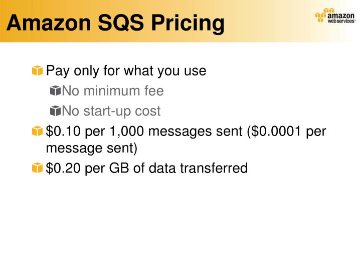 Amazon SQS Pricing