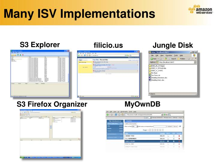Many ISV Implementations