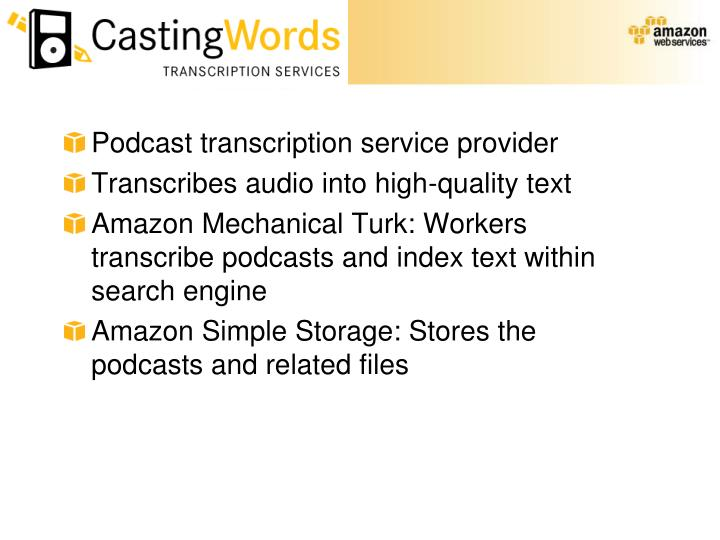 Podcast transcription service provider