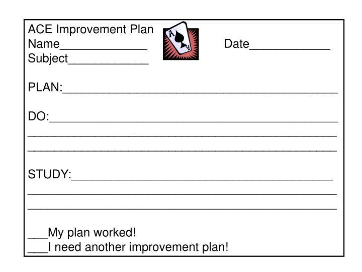 ACE Improvement Plan