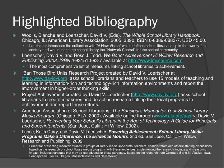 Highlighted Bibliography