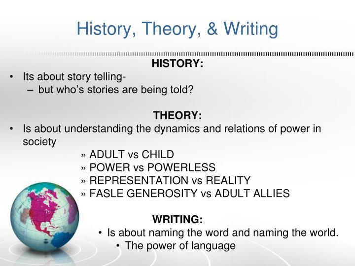 History, Theory, & Writing