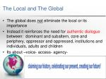 the local and the global