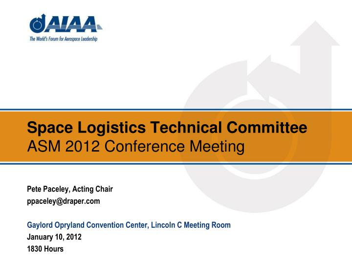 Space Logistics Technical Committee