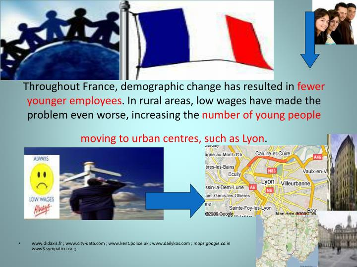 Throughout France, demographic change has resulted in