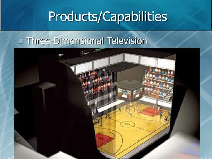 Products/Capabilities