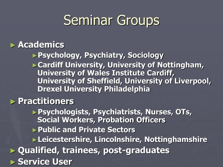 Seminar Groups