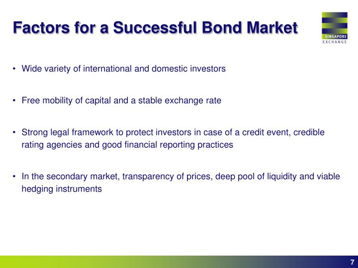 Factors for a Successful Bond Market