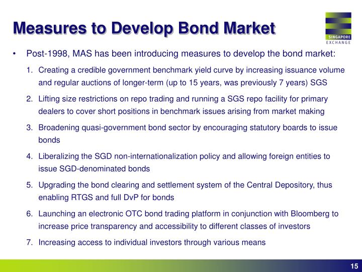 Measures to Develop Bond Market