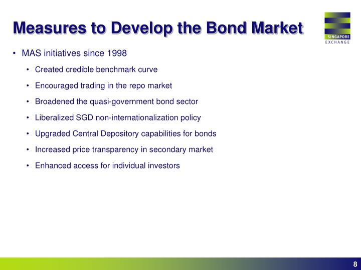 Measures to Develop the Bond Market