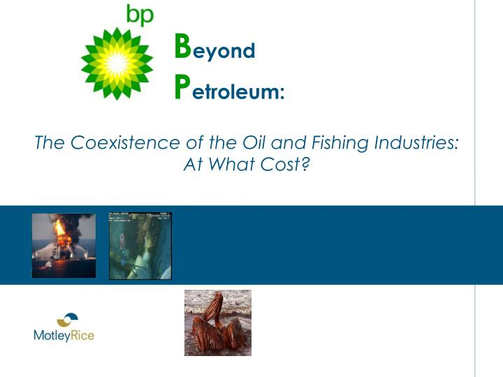 The Coexistence of the Oil and Fishing Industries: At What Cost?