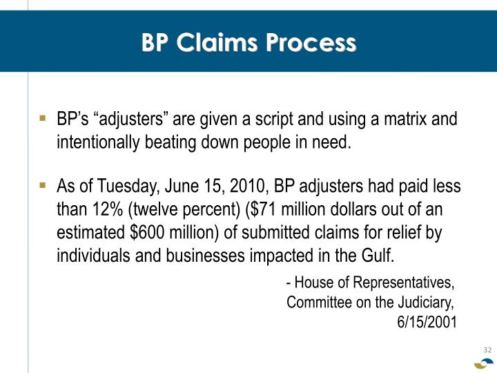 BP Claims Process