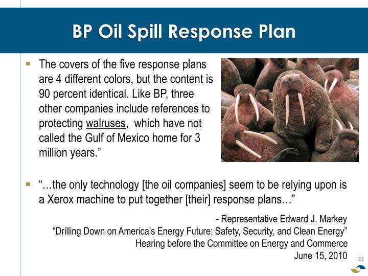 BP Oil Spill Response Plan