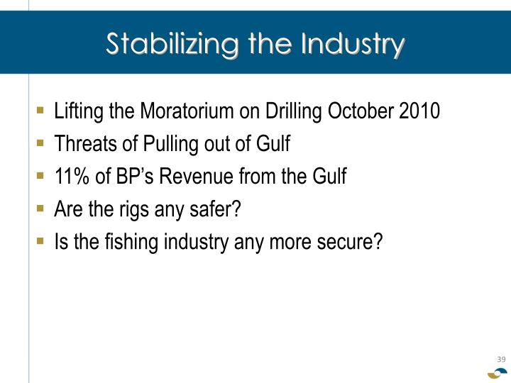 Stabilizing the Industry