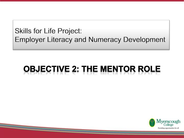 skills for life project employer literacy and numeracy development