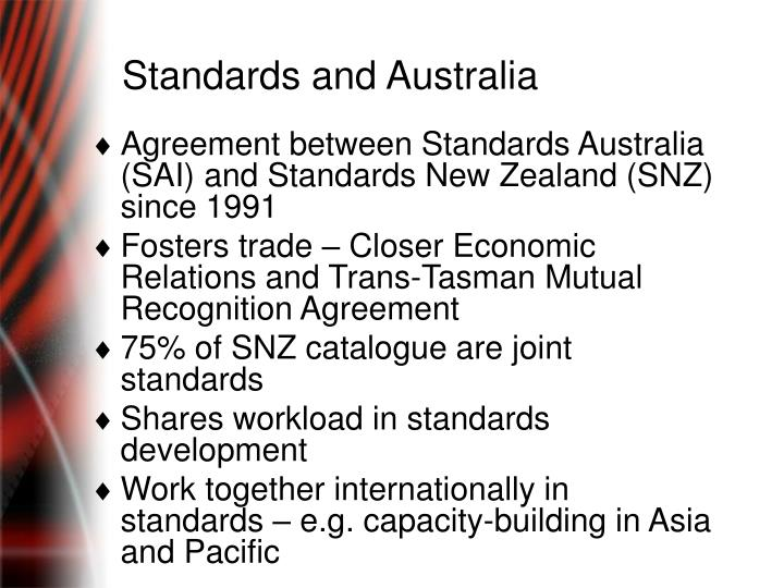 Standards and Australia
