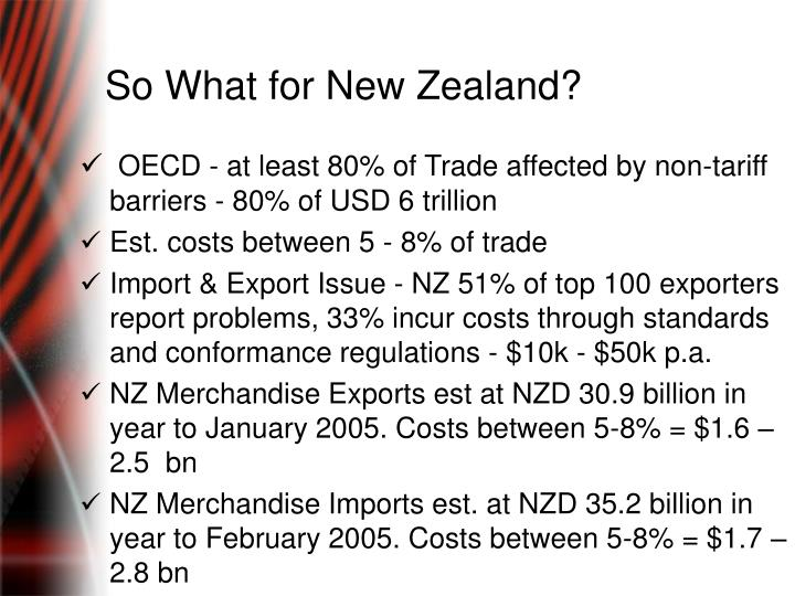So What for New Zealand?