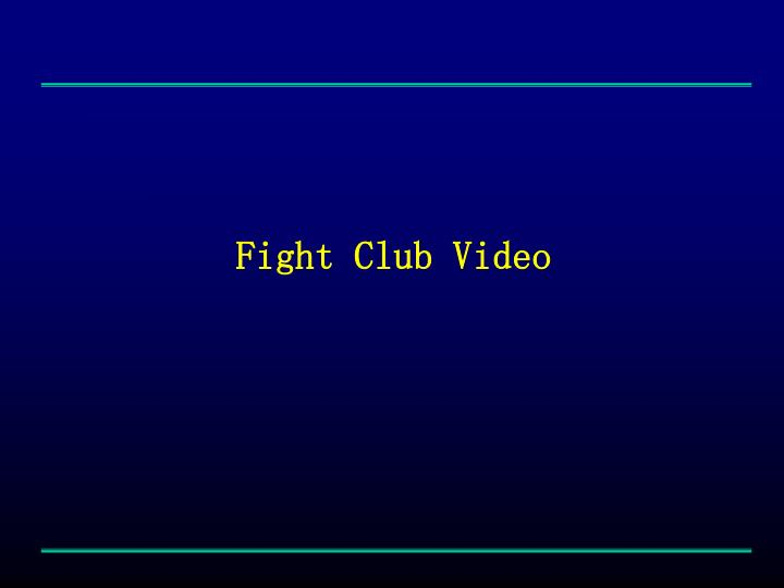 Fight Club Video