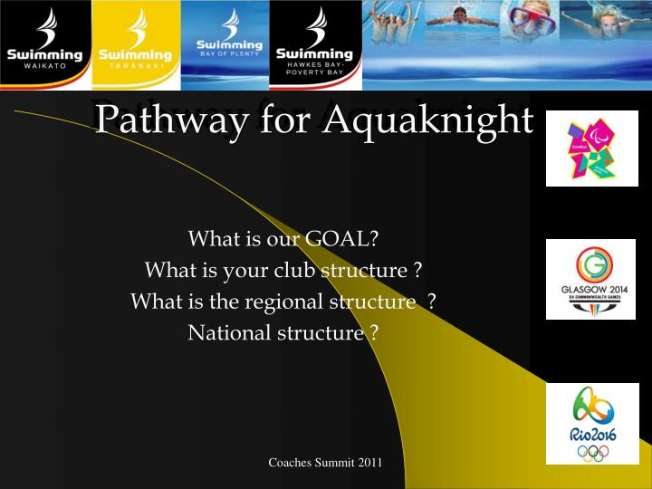 Pathway for Aquaknight