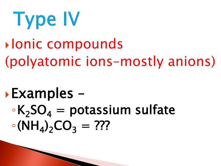 Type IV