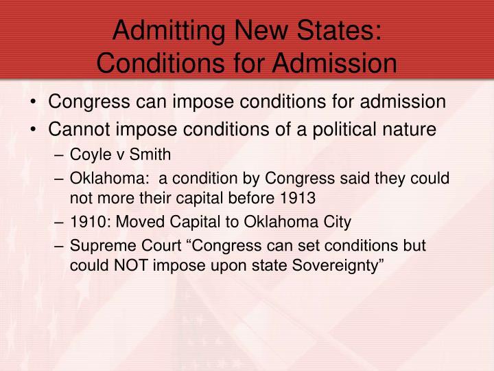 Admitting New States: