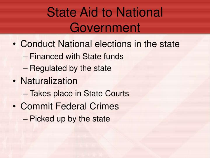 State Aid to National Government