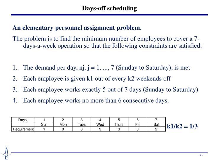 Days-off scheduling