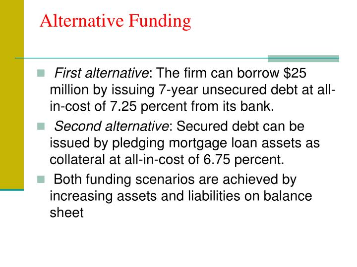 Alternative Funding