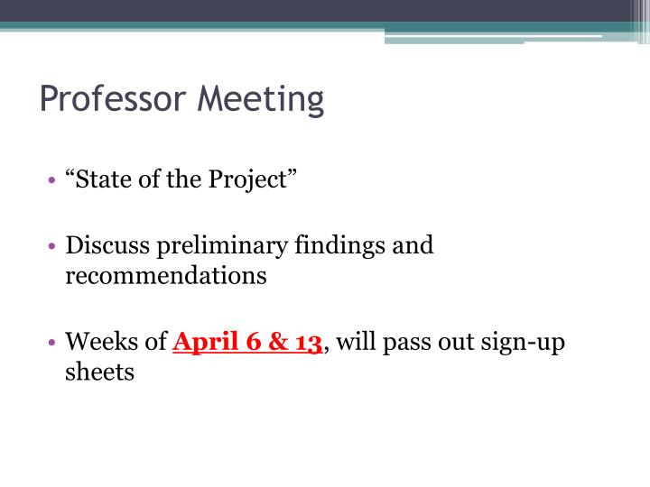 Professor Meeting