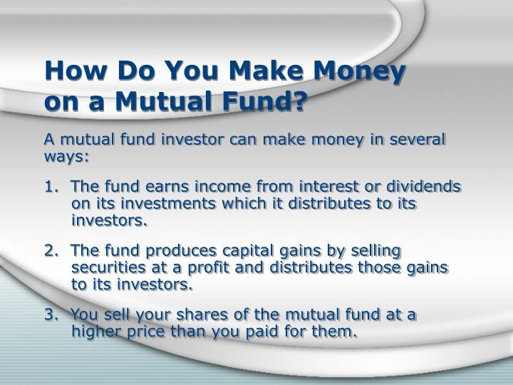 How Do You Make Money
