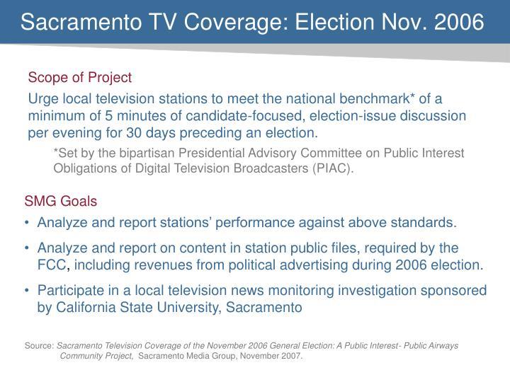 Sacramento TV Coverage: Election Nov. 2006