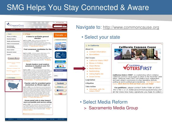 SMG Helps You Stay Connected & Aware