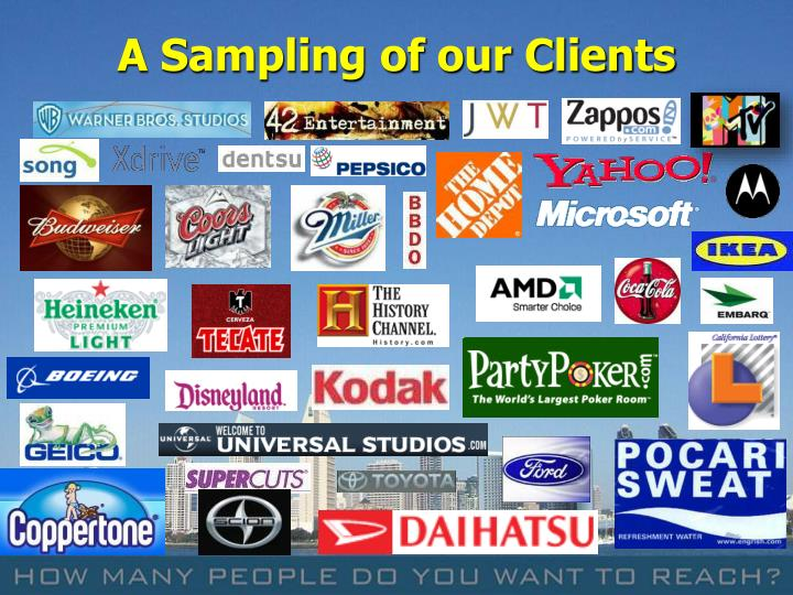 A Sampling of our Clients