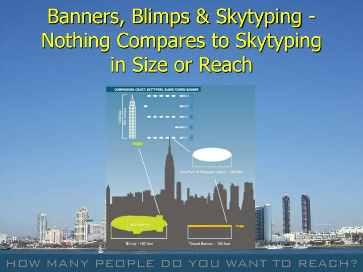 Banners, Blimps & Skytyping -
