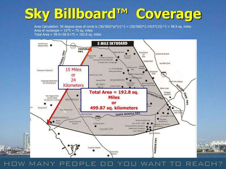 Sky Billboard™  Coverage