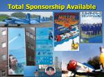 total sponsorship available