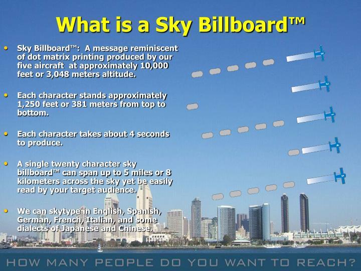 What is a Sky Billboard™