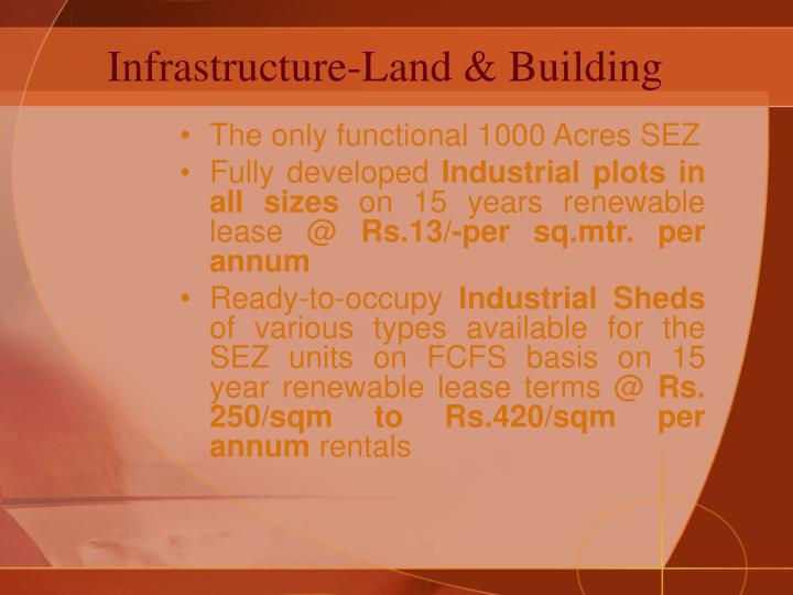 Infrastructure land building