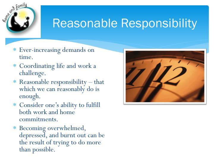 Reasonable Responsibility