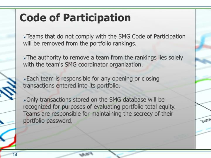 Code of Participation