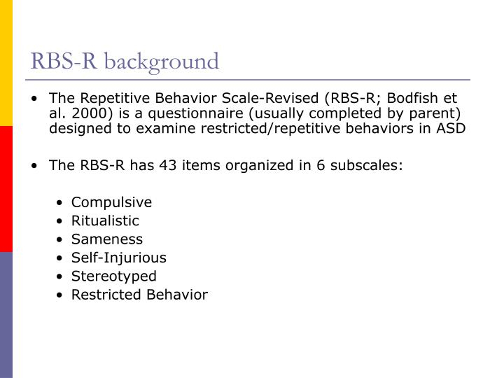 RBS-R background