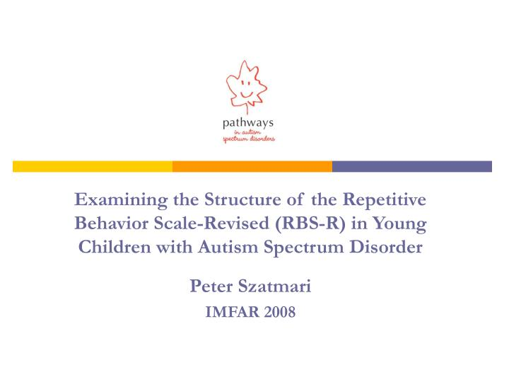 Examining the Structure of the Repetitive Behavior Scale-Revised (RBS-R) in Young Children with Autism Spectrum Disorder