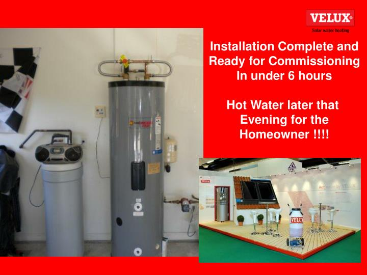 Installation Complete and