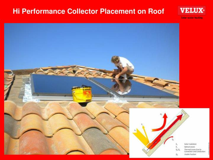 Hi Performance Collector Placement on Roof