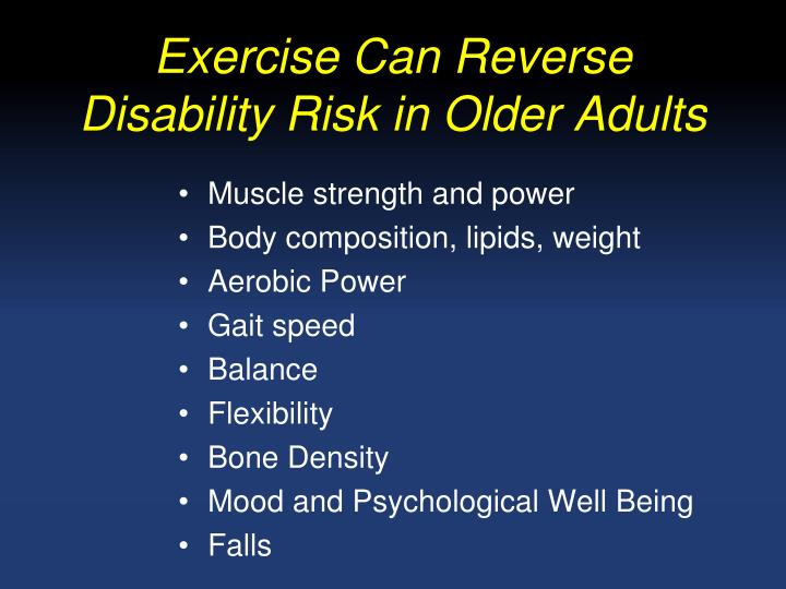 Exercise Can Reverse